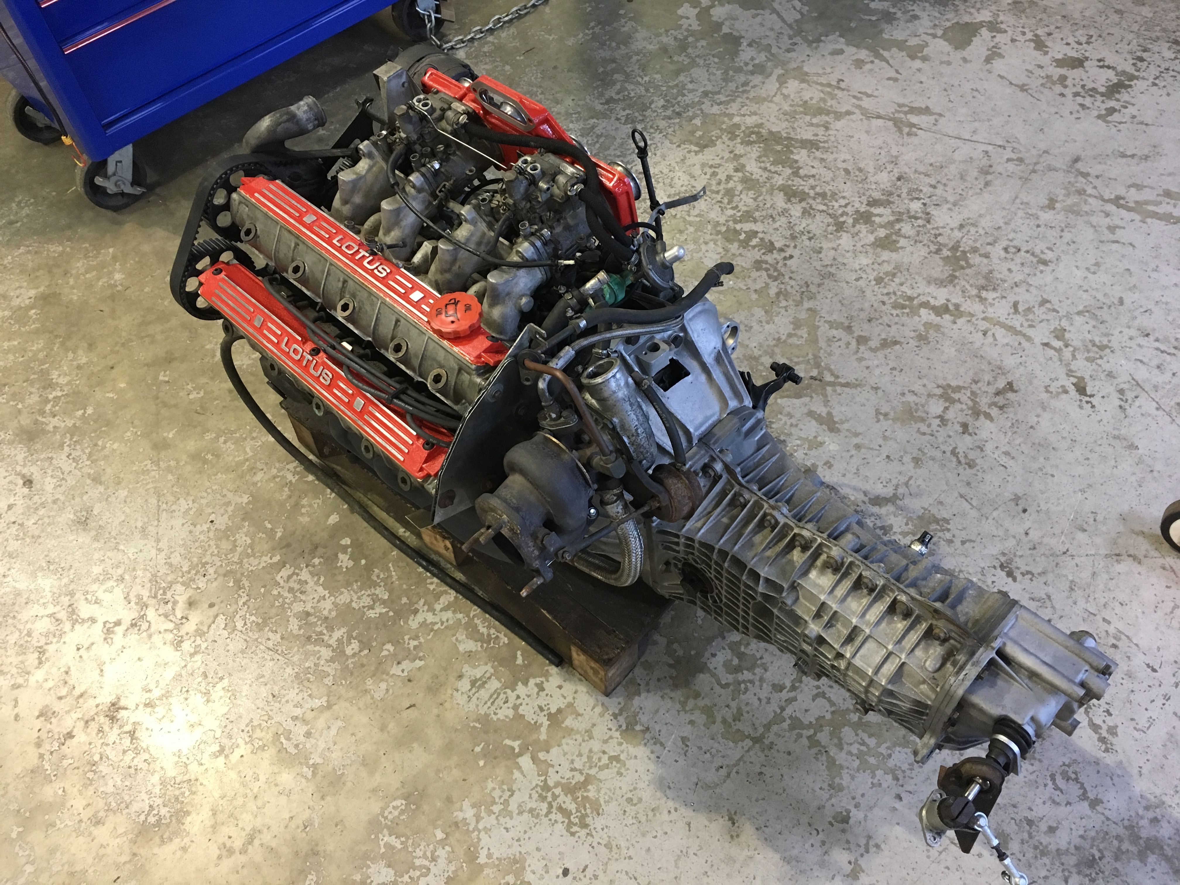Lotus Esprit 4 Cylinder 900 series engine being stripped down repaired and rebuilt.