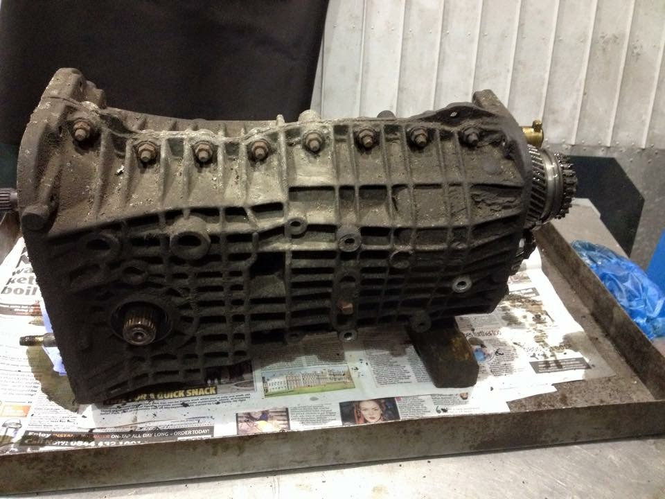 Lotus Esprit Renault UN1 Gearbox in for rebuild at Esprit Engineering - Gearbox Rebuilding Service - V8 S4S S4 SE X180