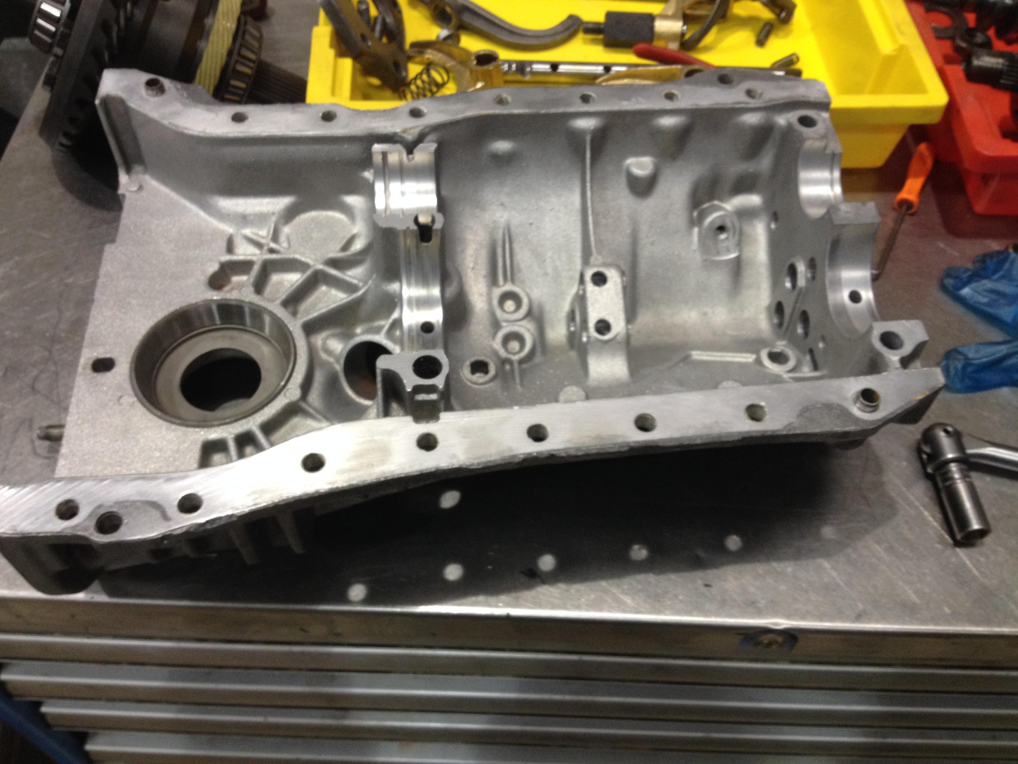 Lotus Esprit Renault UN1 Gearbox aqua Shot blasting at Esprit Engineering - Gearbox Rebuilding Service - V8 S4S S4 SE X180